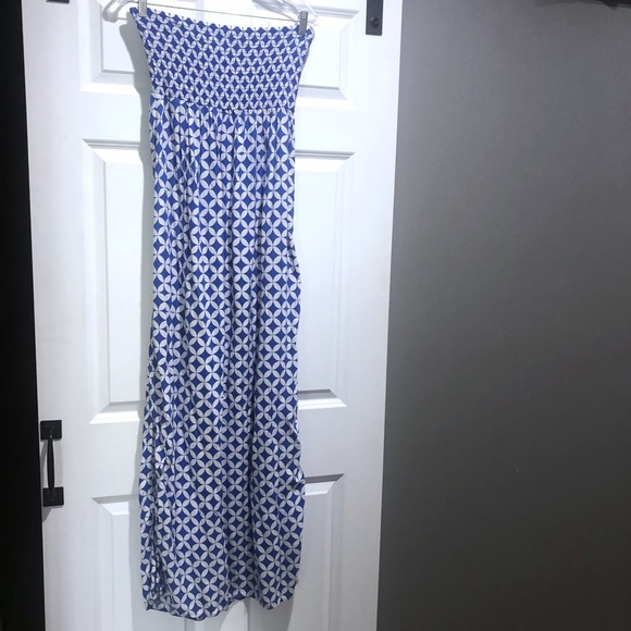 GAP Dresses & Skirts - Gap blue and white smocked maxi dress large